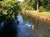 Und noch ein letztes Mal über den Fluss...