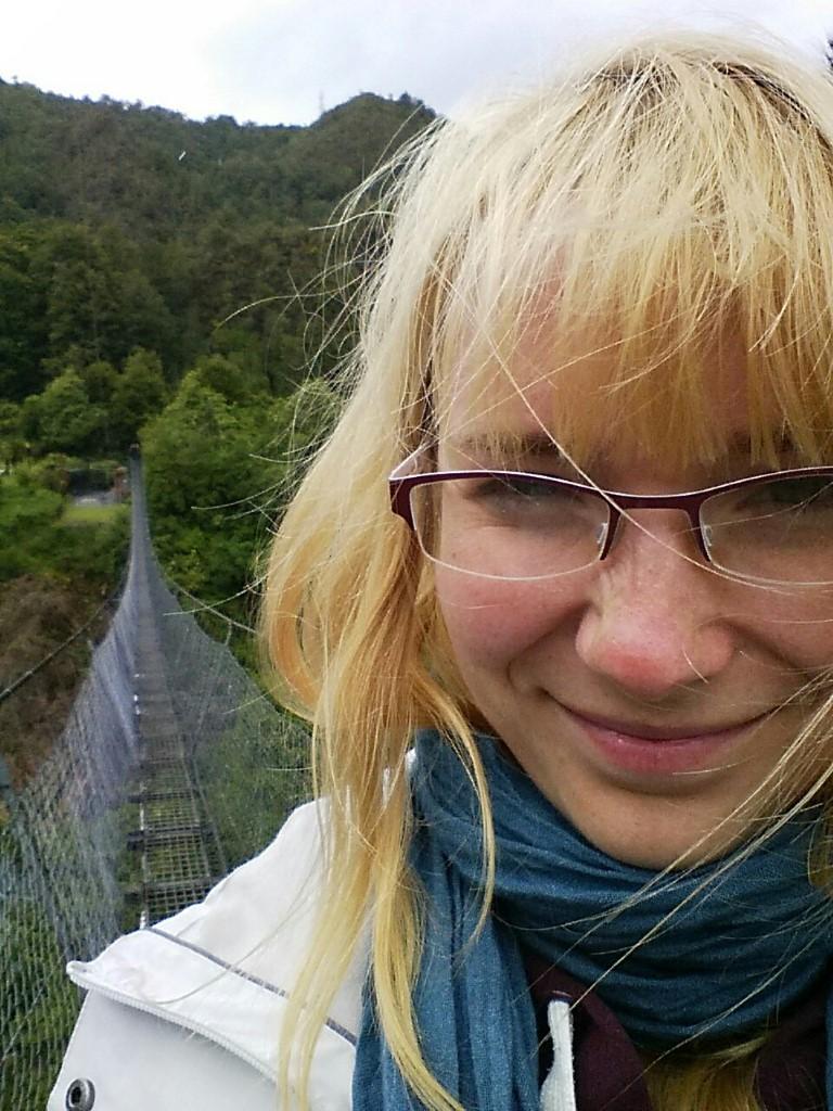 Habs über die Brücke geschafft! Bin stolz!