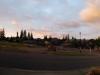 Auf diesem Panorama sieht man nicht nur den tollen Sonnenaufgang sondern auch mein Superauto.