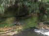 Wer dort wohl an der anderen Seite des Flusses etwas in den Stein gekratzt hat?
