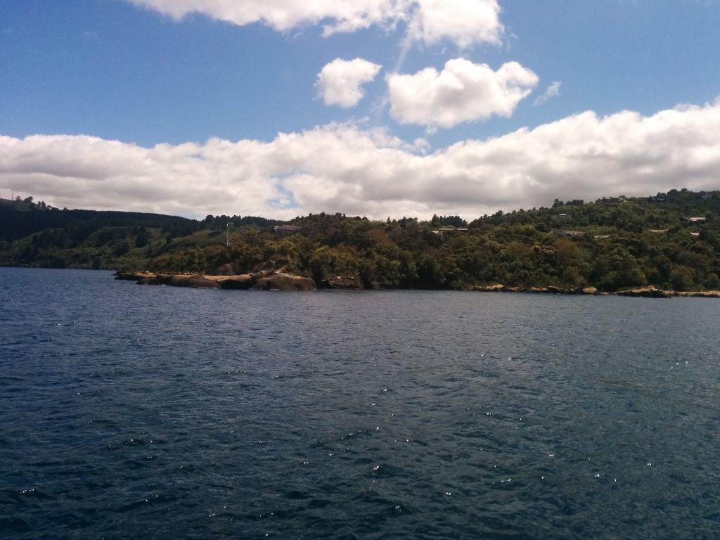 Da ist der Rangatira Point! Dort endete meine Wanderung gestern.