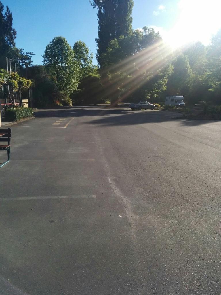 Nur noch mein Auto auf dem Parkplatz... Zeit, aufzubrechen!