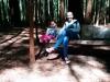 Angekommen in Redwoods. Reegan und ich entspannen mal ne Runde...