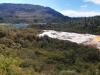 Nochmal ein sehr weiträumiges Panorama. Links der See, über den ich via Taxi gekommen bin. Rechts dann das ganze weiße Schnee-Mondlandschafts-Gebiet