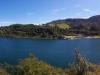 Der See in seiner ganzen Pracht (oder auch nicht in der ganzen, immerhin sieht man nicht den ganzen See, ich bin ja auf einer Insel...
