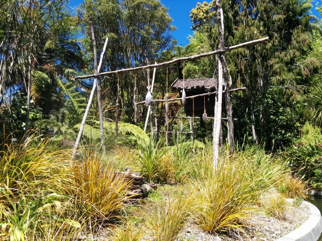 Historisches Maori-Dorf in The Big Splash.