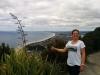 Geschafft! Im Hintergrund sieht man Stadt Mount Maunganui