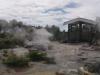 Panoramasicht über ganz viel Dampf und heiße Quellen.